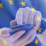 Symbol: Handy mit Europafahne